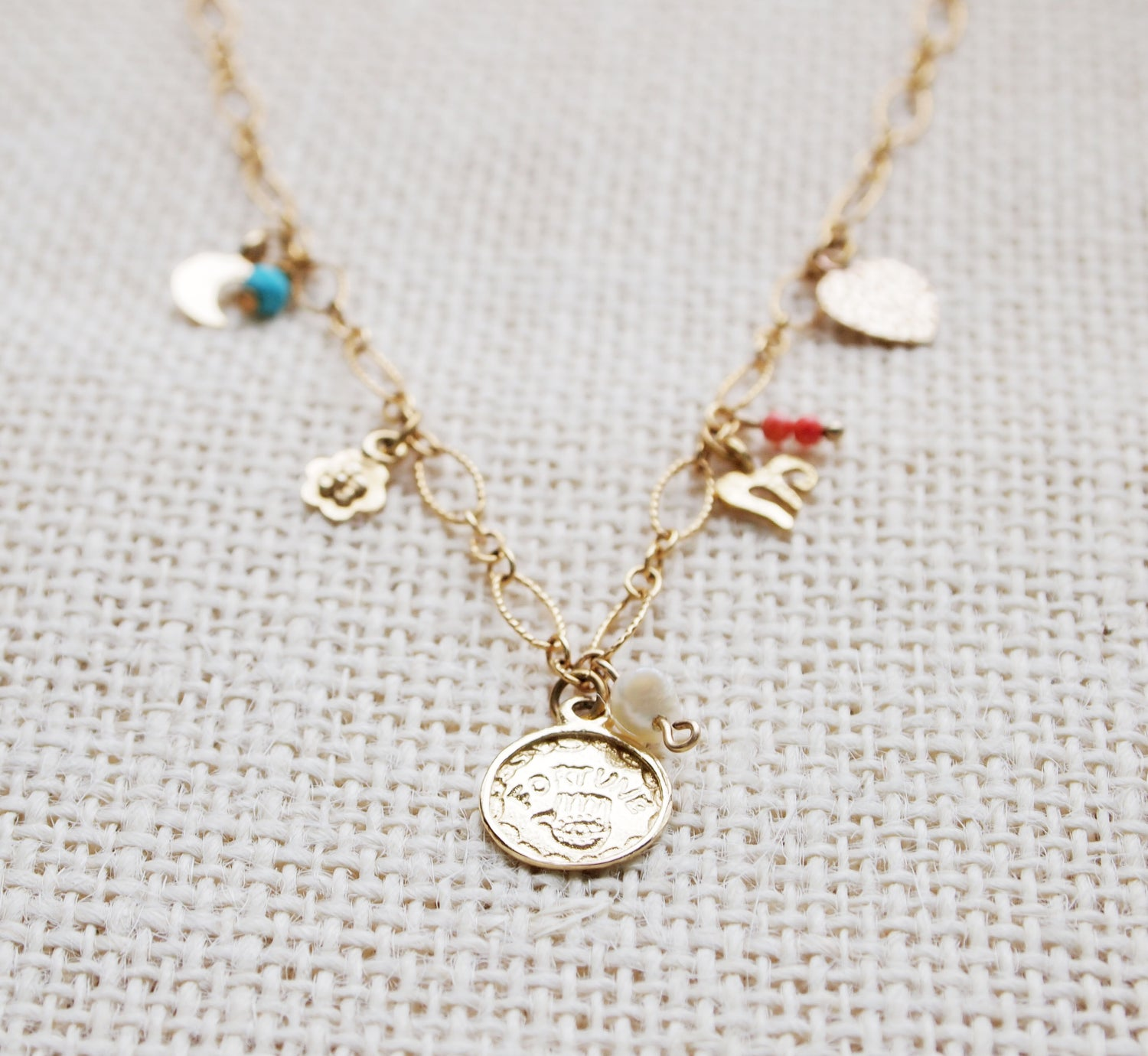 Image of Fortune Charm Necklace