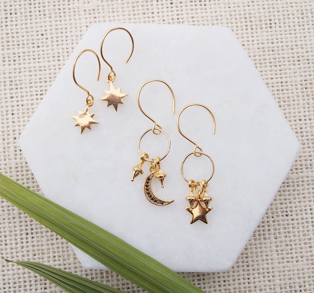 Image of Gold Star Earrings