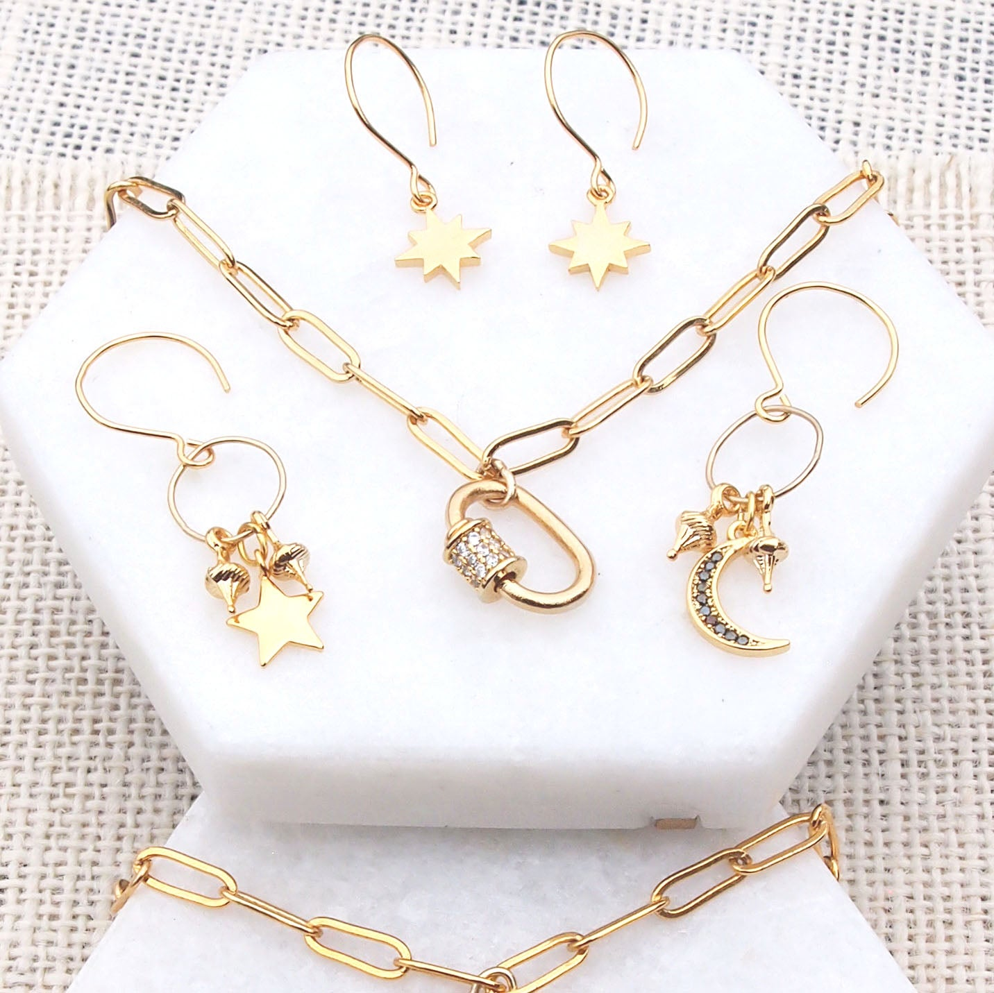 Image of Gold Star Earrings
