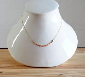 Image of Clandestine - Bracelet India 3 tours/collier simple - Jaune/Rouges
