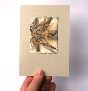 Image of Leaf print cards - 5 card pack