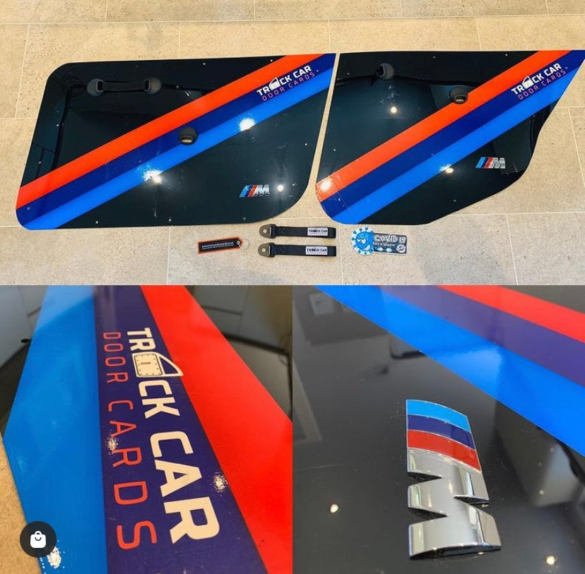 Image of BMW M3 stripes for door cards