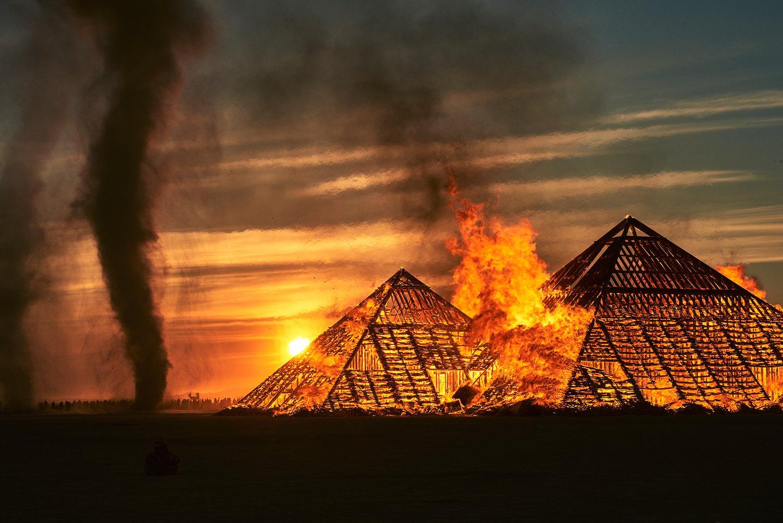 Burning Pyramids