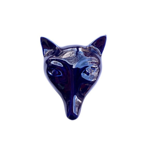 Image of FOX BROOCH NIGHT BLUE