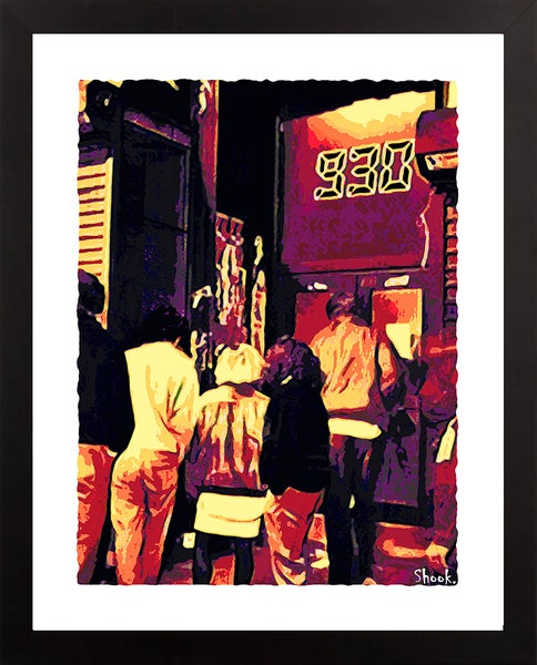 "Image of 9:30 Club Showtime Giclée Art Print - 11"" x 14"""