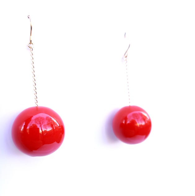 """Image of RED """"TAC TAC"""" EARRINGS"""