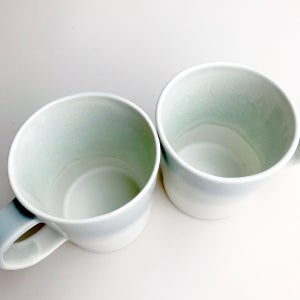 Image of 16oz mug, celadon watercolor