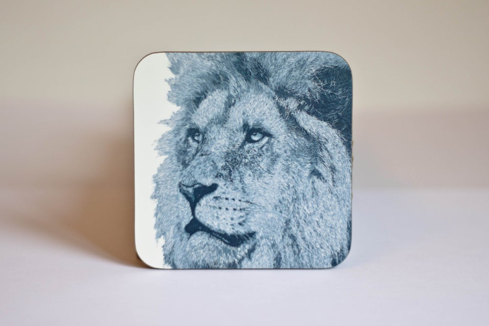 Image of Lion and Silverback Coasters (set of 4)