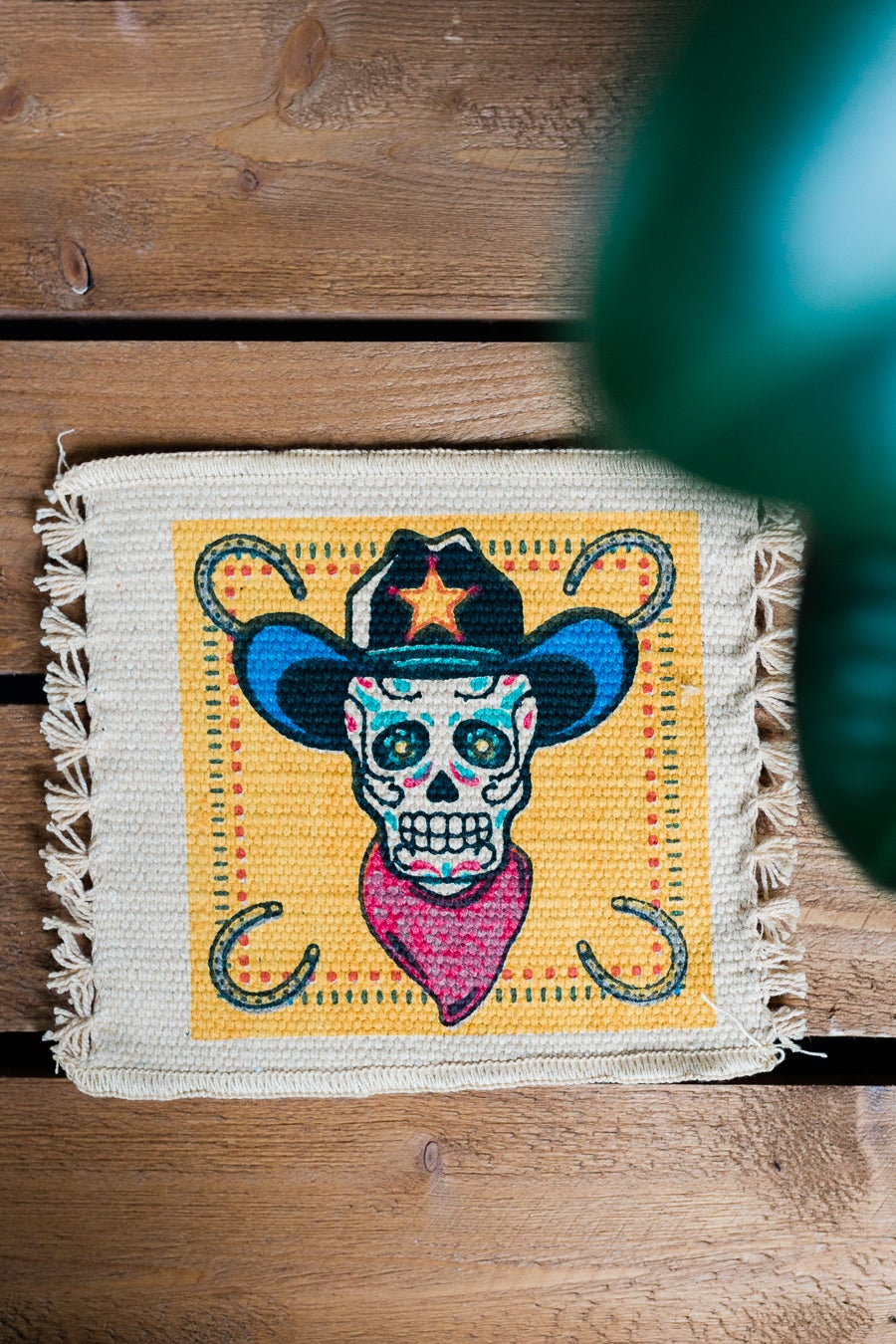 Image of 'Skully Cowboy' Coaster x 2 Pack