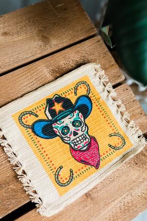 Image of 'Skully Cowboy' Coaster x 2 Pack