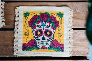 Image of 'Skully Rose' Coaster x 2 Pack