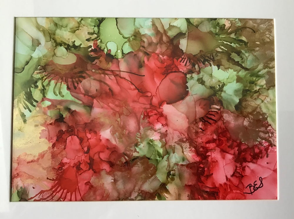 Image of Abstract in Reds and Greens