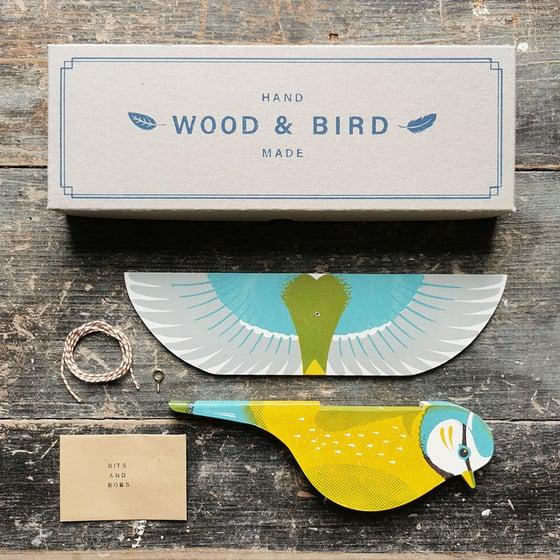 Image of Wood & Bird Blue Tit
