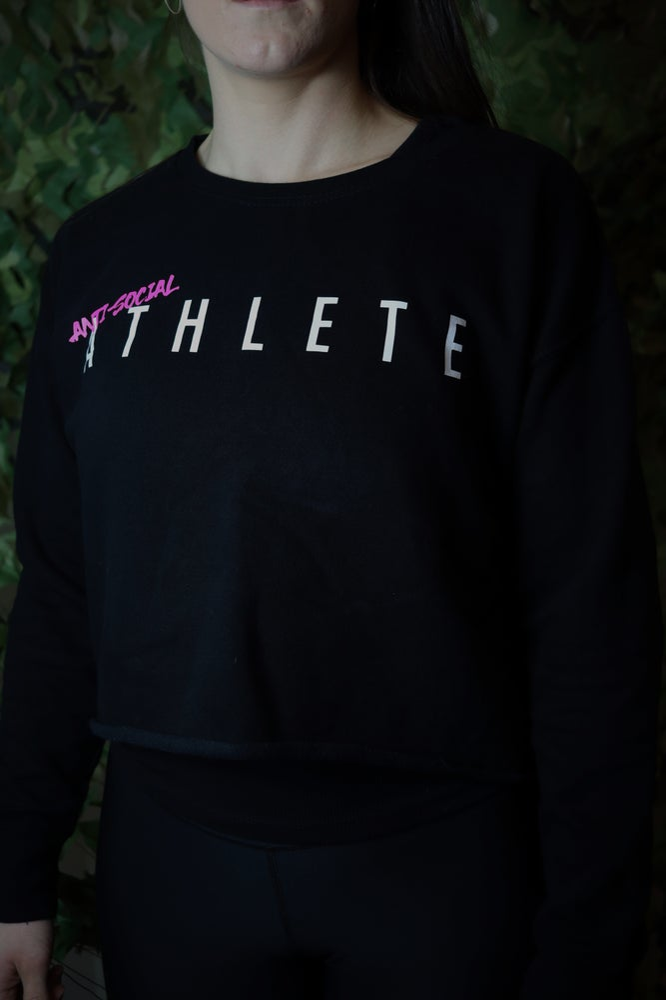 Image of Anti-Social A T H L E T E - Cropped Sweat