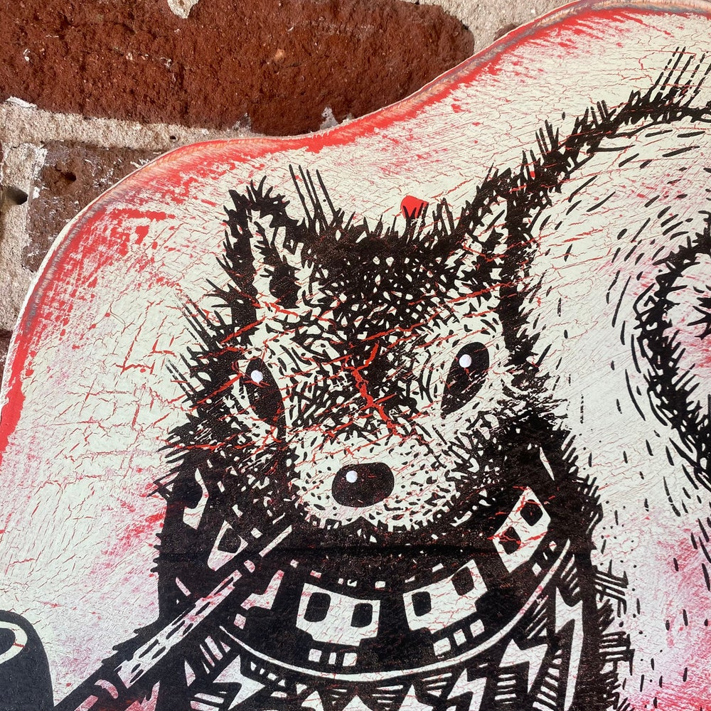 Image of Pretentious Squirrel on Aged Ply