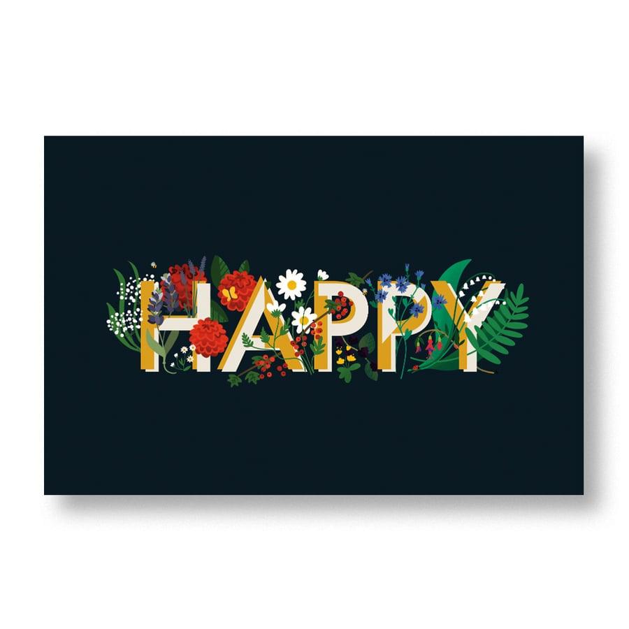 Image of Carte postale «Happy »