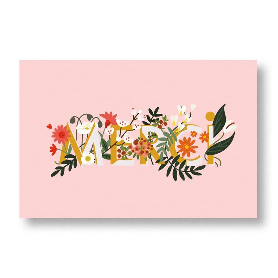 "Image of Carte postale ""Merci"""