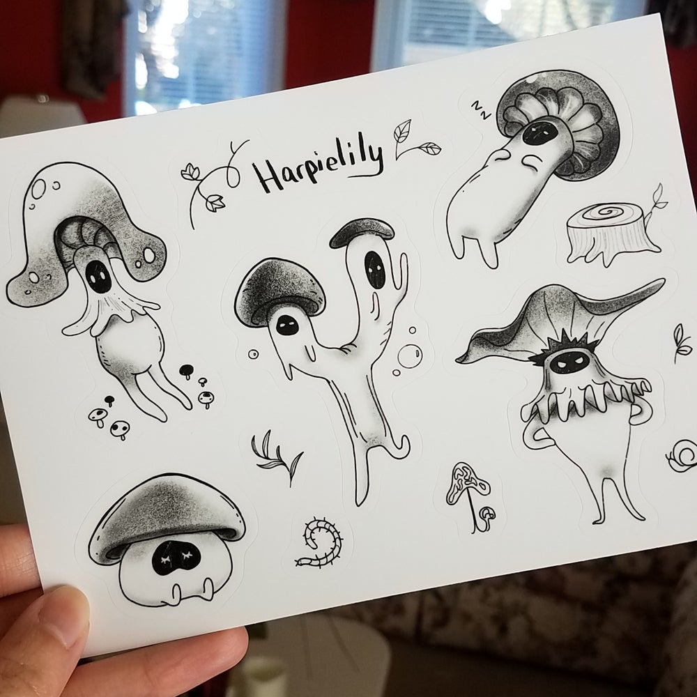 Image of Mushroom Boyos Sticker sheet