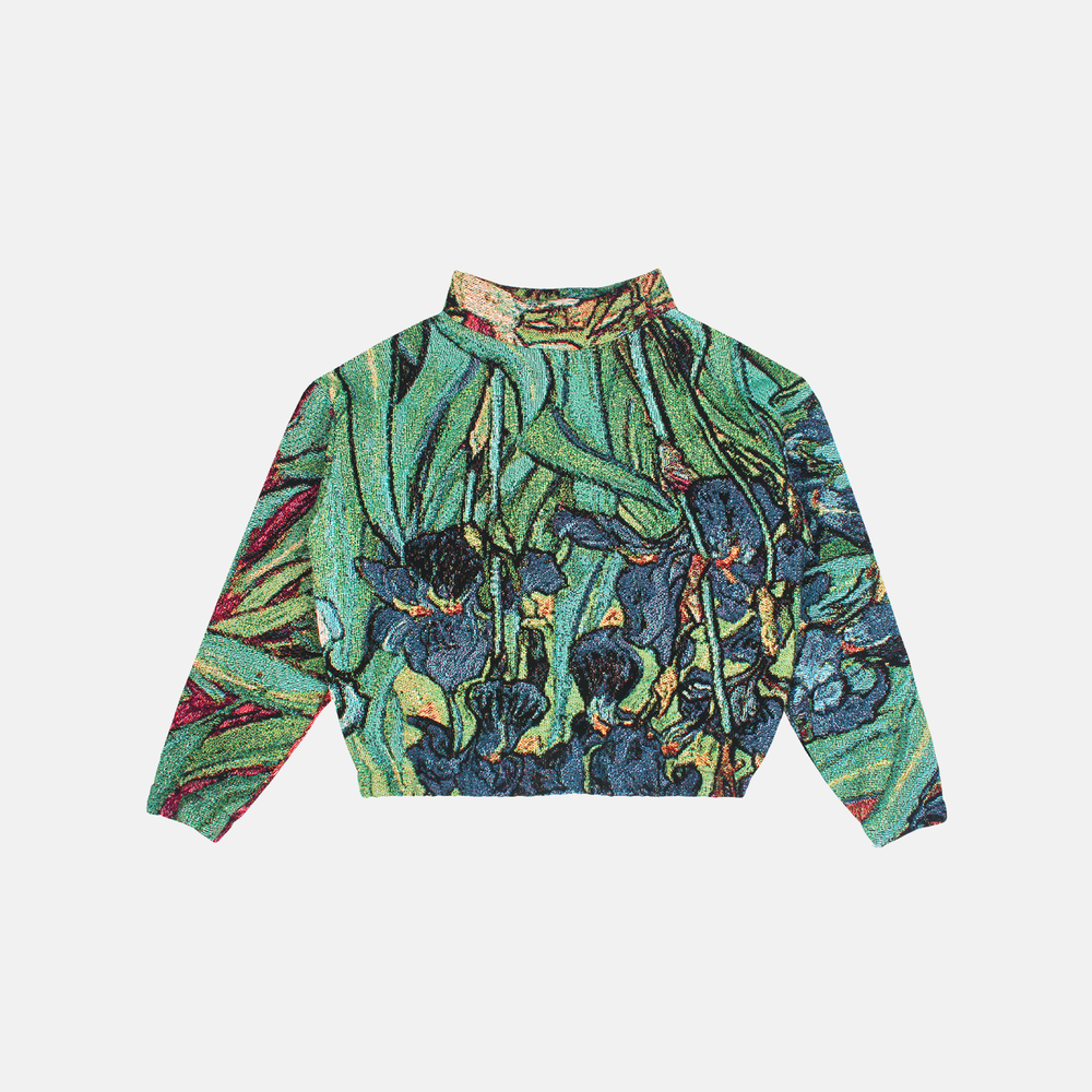 Image of LAUREL WAY IRISES WOVEN PULLOVER