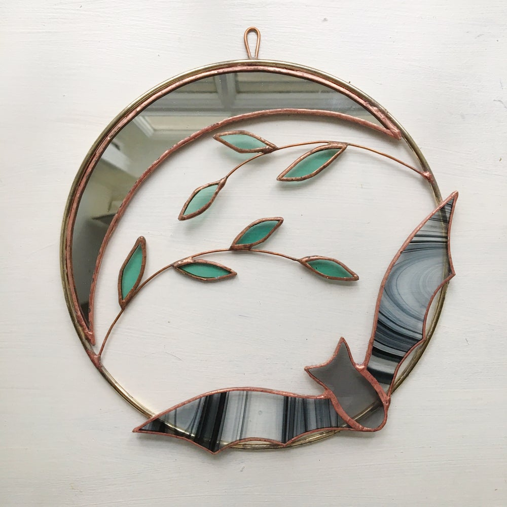 Image of Bat and Crescent Moon Wreath