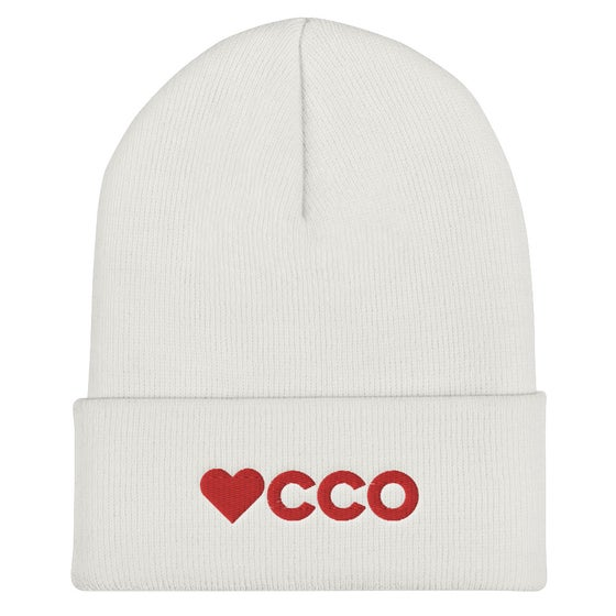 Image of White & Red WCCO Beanie
