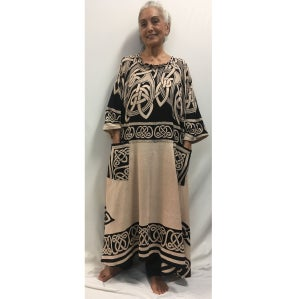 Image of OM Caftan Dress - Hand woven - Hand Block Printed Cotton