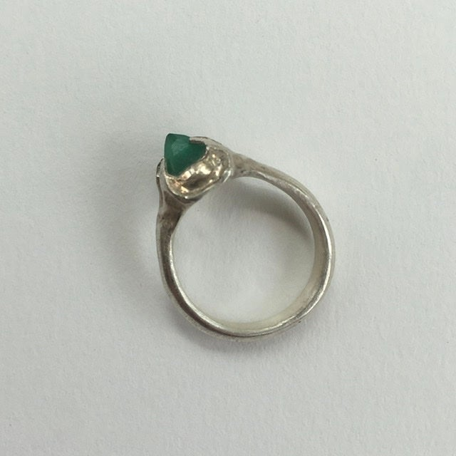 Image of Emerald signet ring