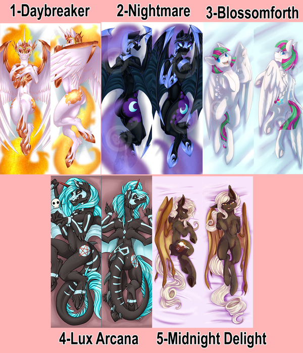 Image of Pony Body Pillow Cases (Dakimakura 50x150cm)