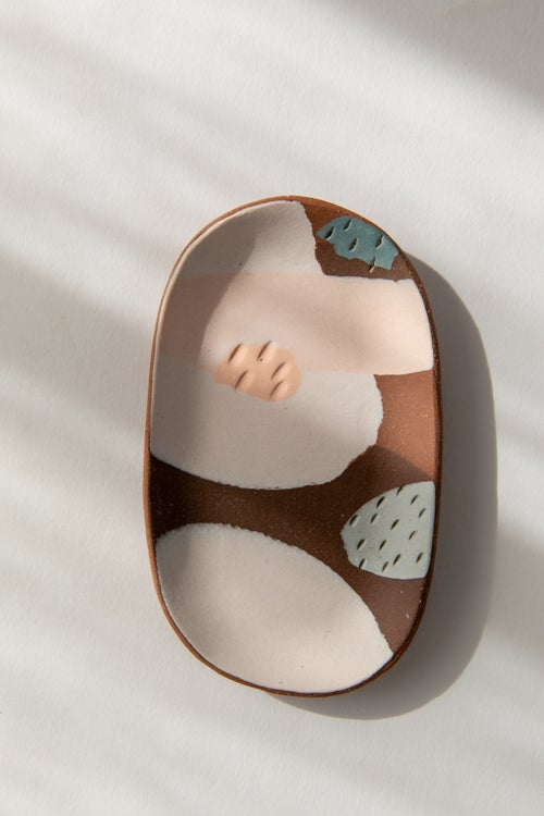 Image of Small Oval Jewelry Dish - Red Mesa