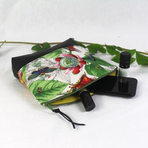 Image of Curved Purse -  Birds & Butterflies