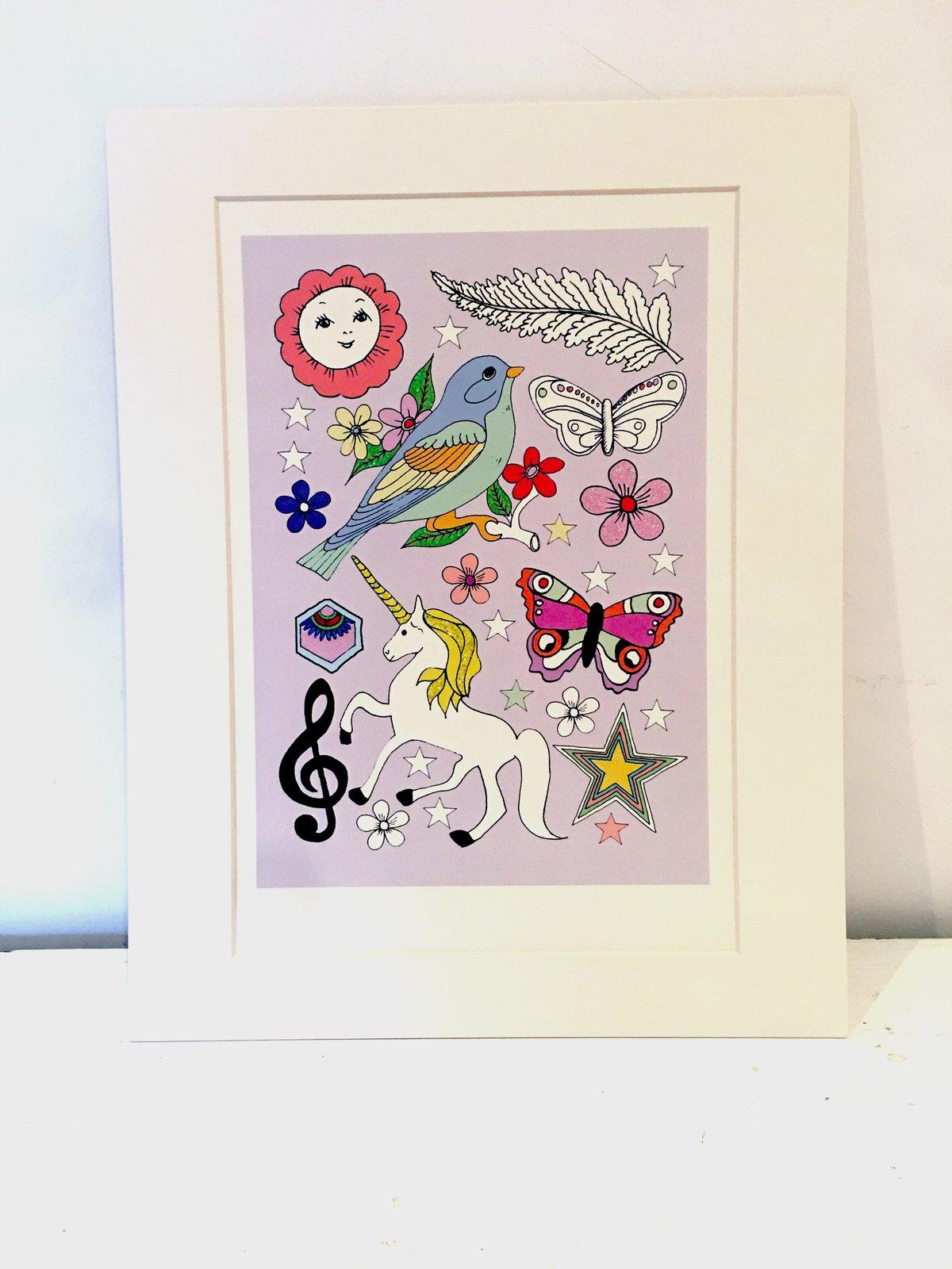 Unicorn Glitter Tattoo Print