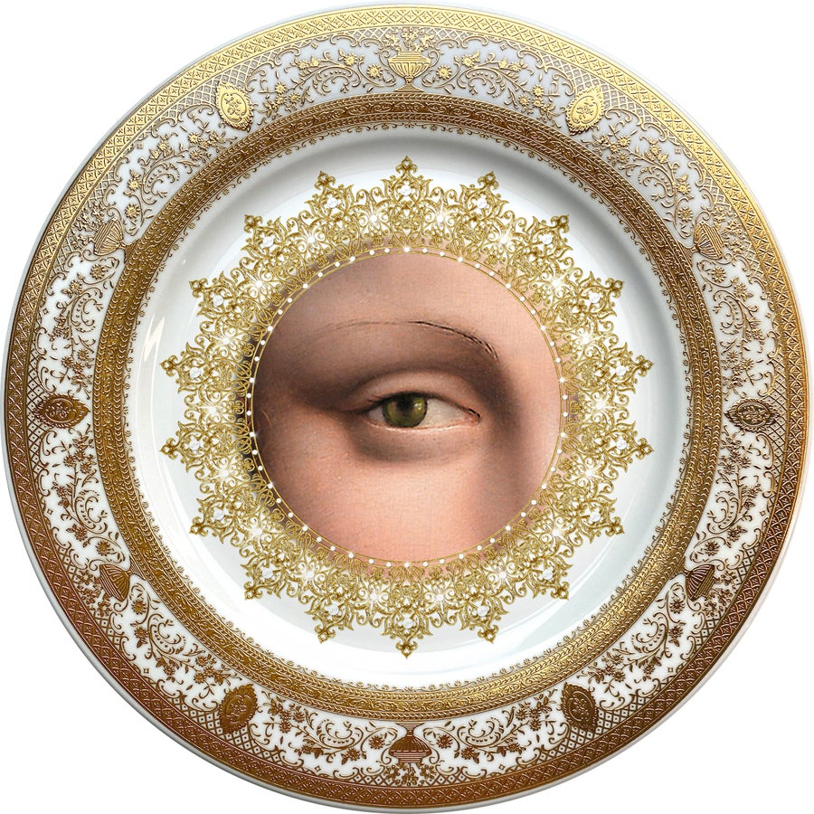 Image of Lover's Eye - Yellow - Fine China Plate - #0738