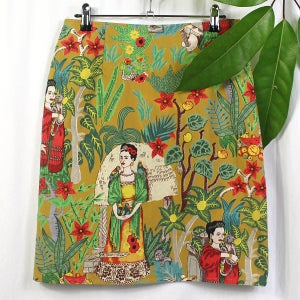 Image of Frida Kahlo Skirt - Mustard