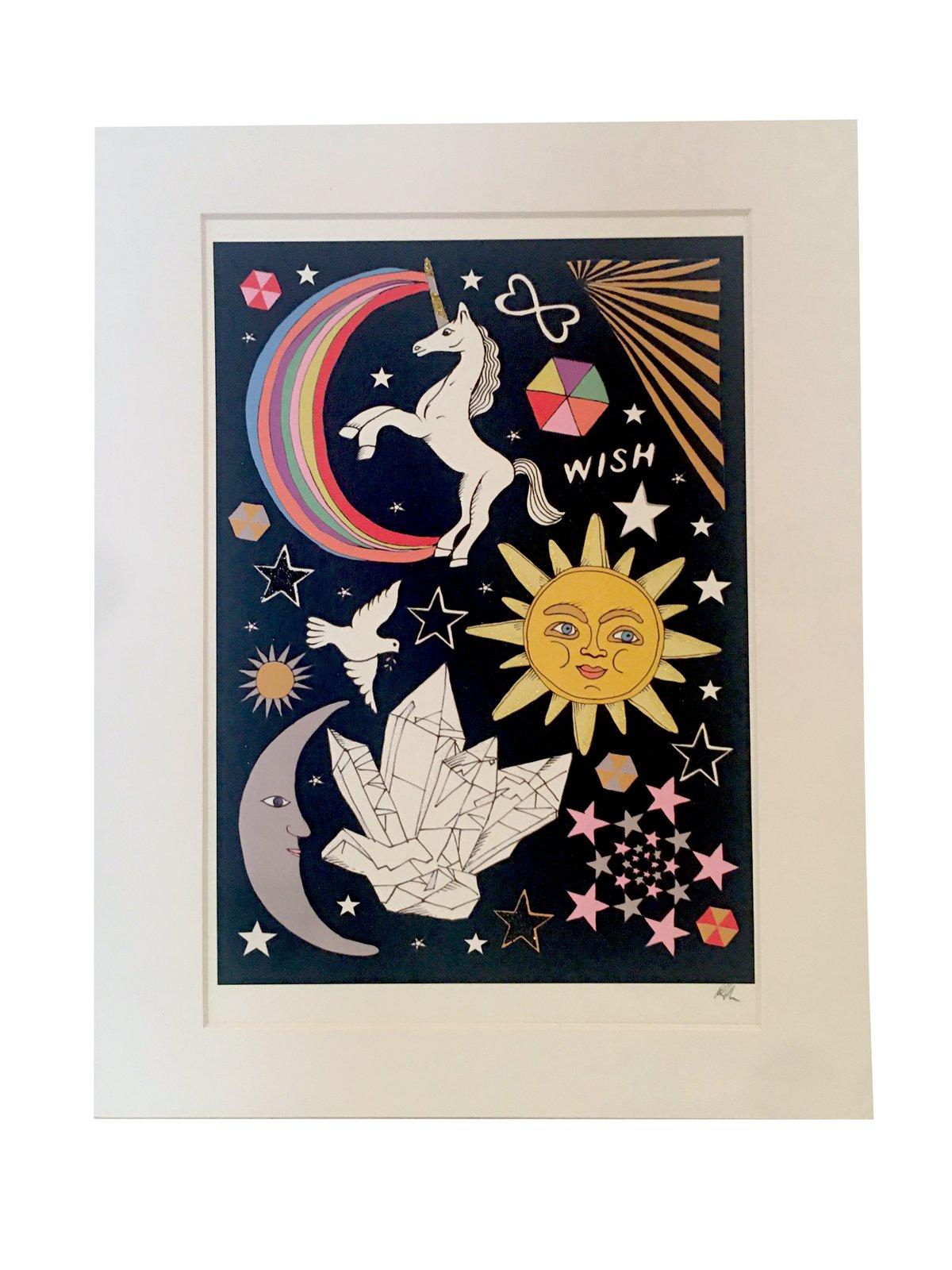 Celestial Glitter Tattoo Print