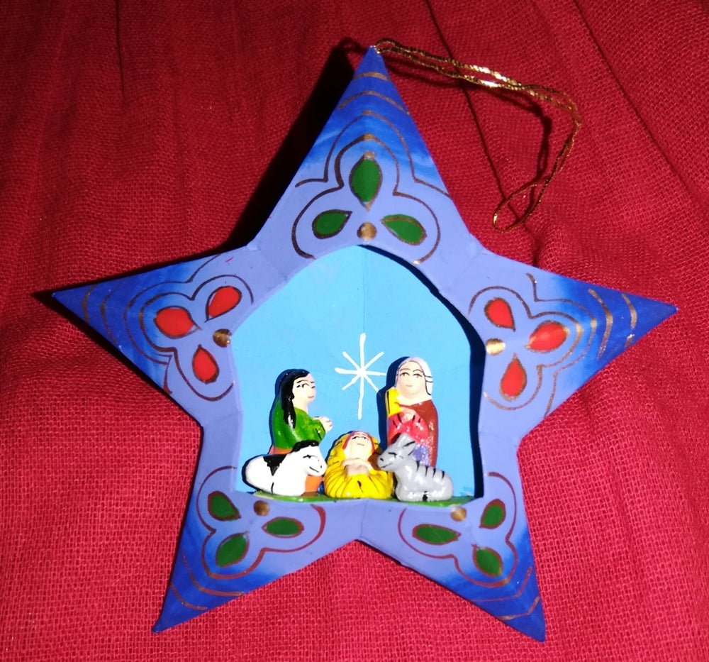 Image of Star Nativity ornament