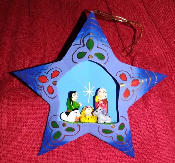 Image of Star Nativity ornament