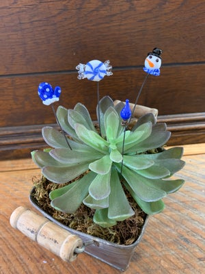 Image of Blue Christmas plant stick set