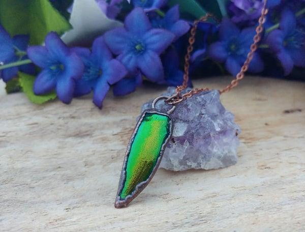 Image of Jewel Beetle Wing Pendant
