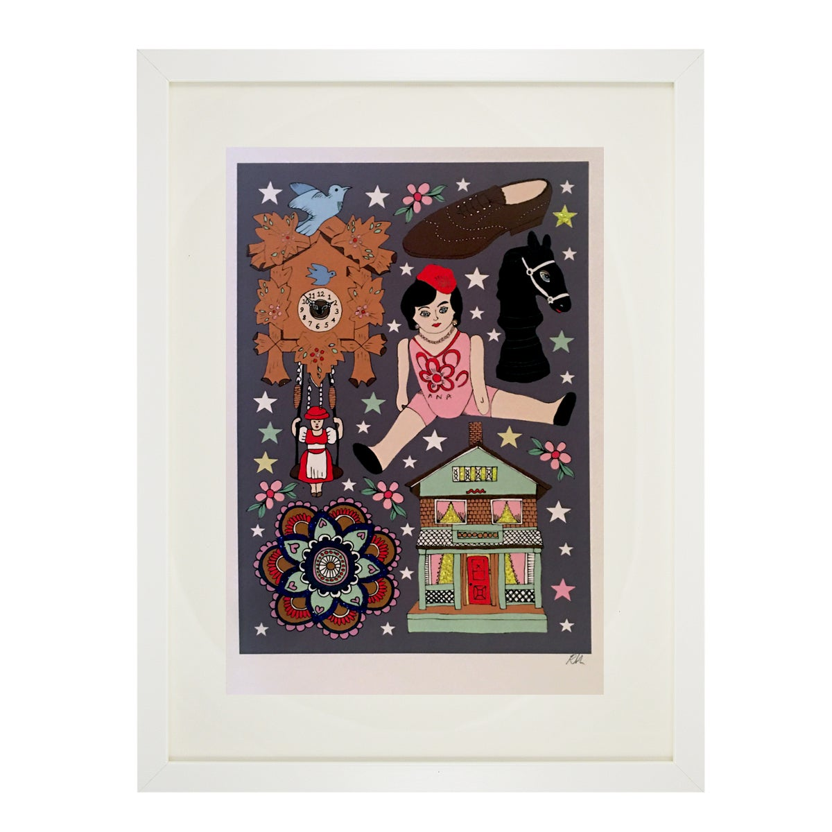 Dolls House Glitter Tattoo Print