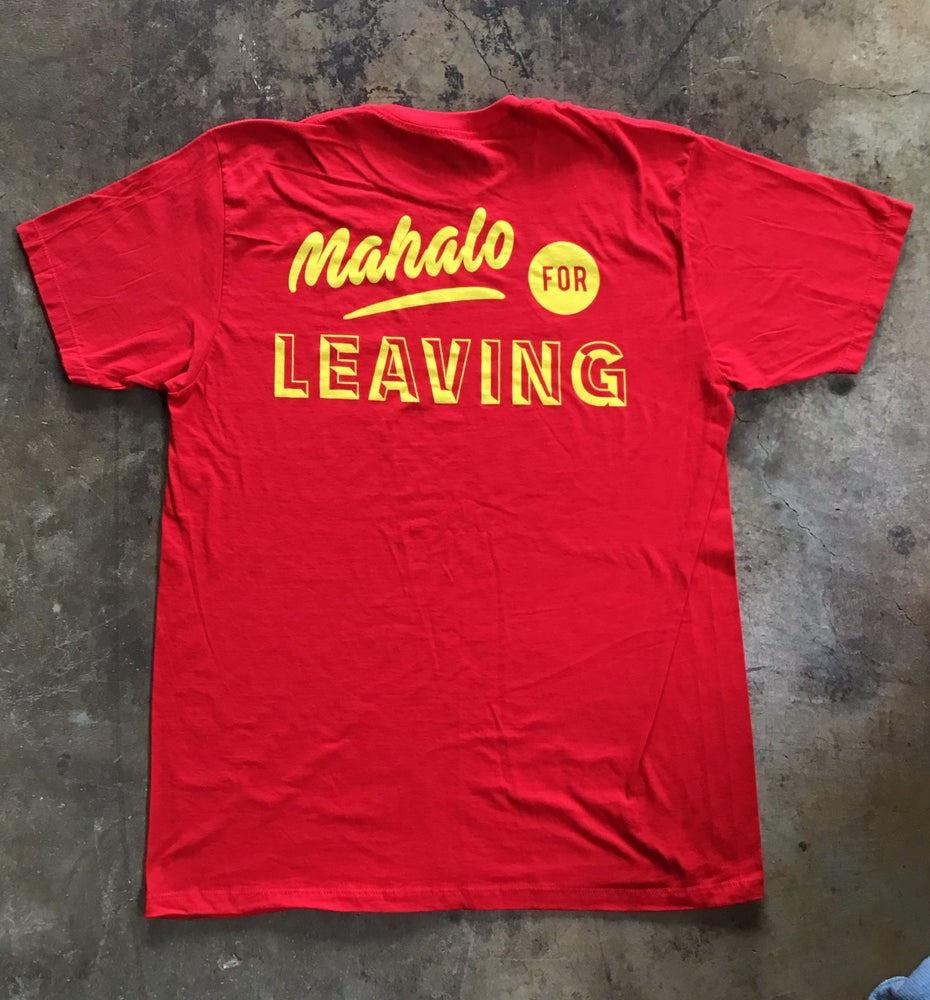 Image of Mahalo For Leaving - Yellow / Red