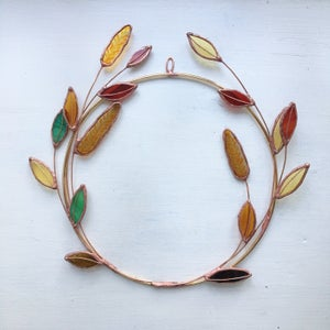 Image of Autumnal Leaf Wreath no.2