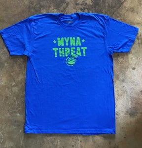 Image of Myna Threat - Blue / Lime Green