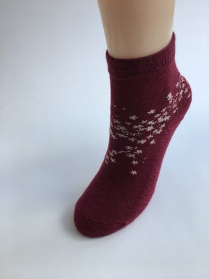 Image of Buy NZ Made Day Special - Merino Cherry Blossom Ankle Socks