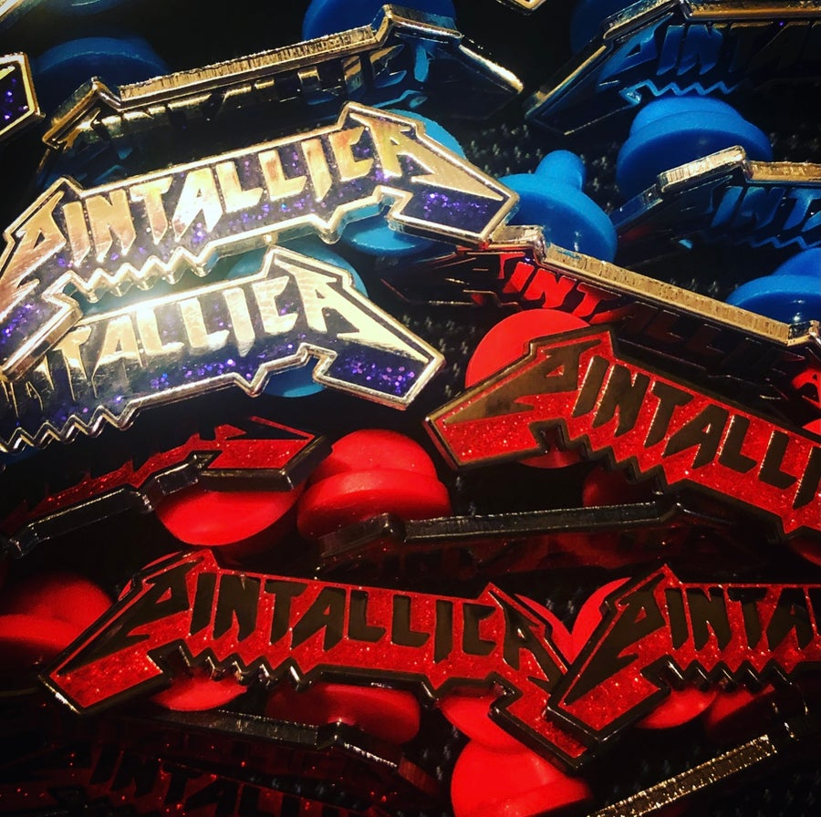 Image of Pintallica V1 (Hard Enamel Pin)