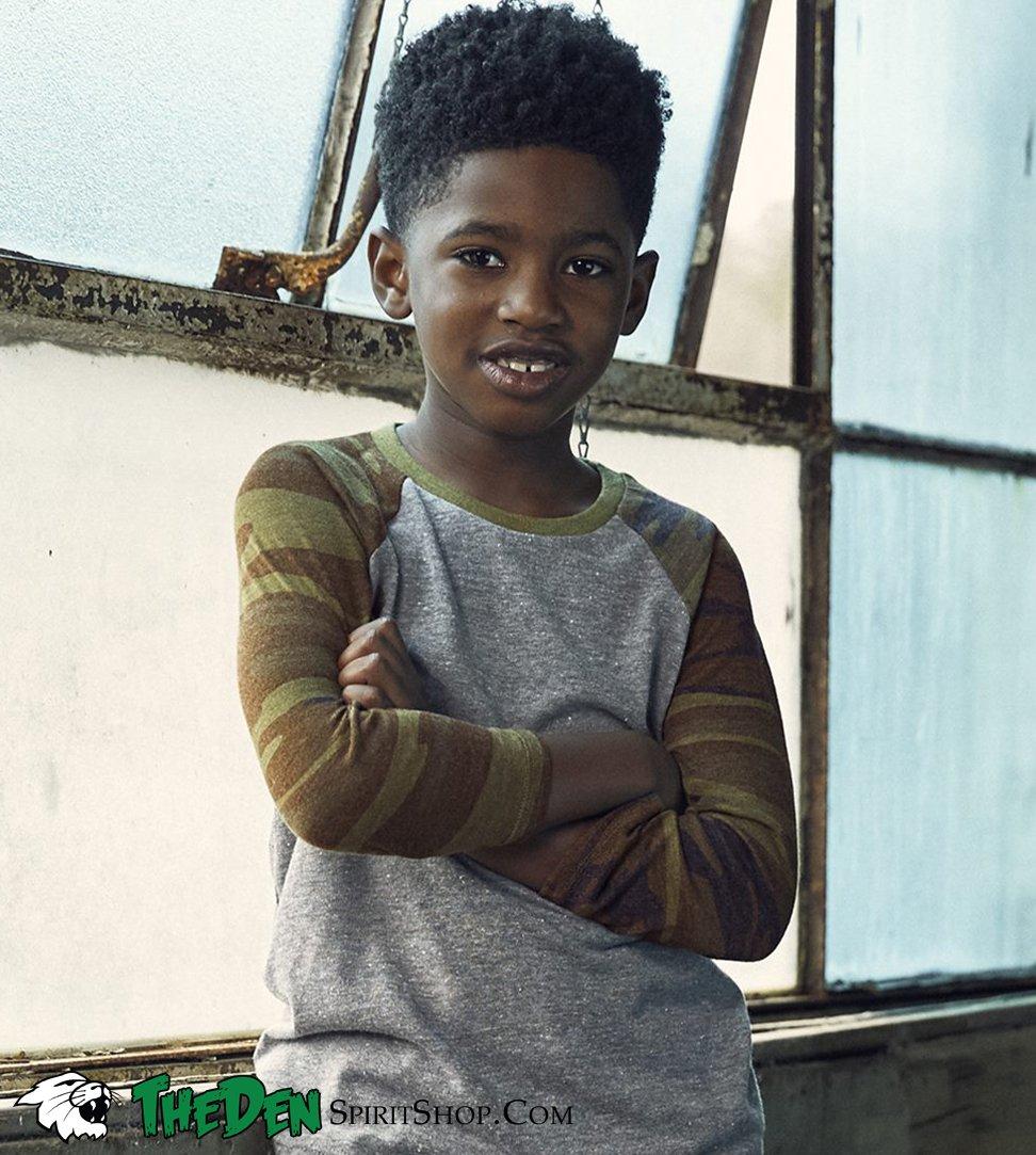 Image of Youth Camo Longsleeve Tee