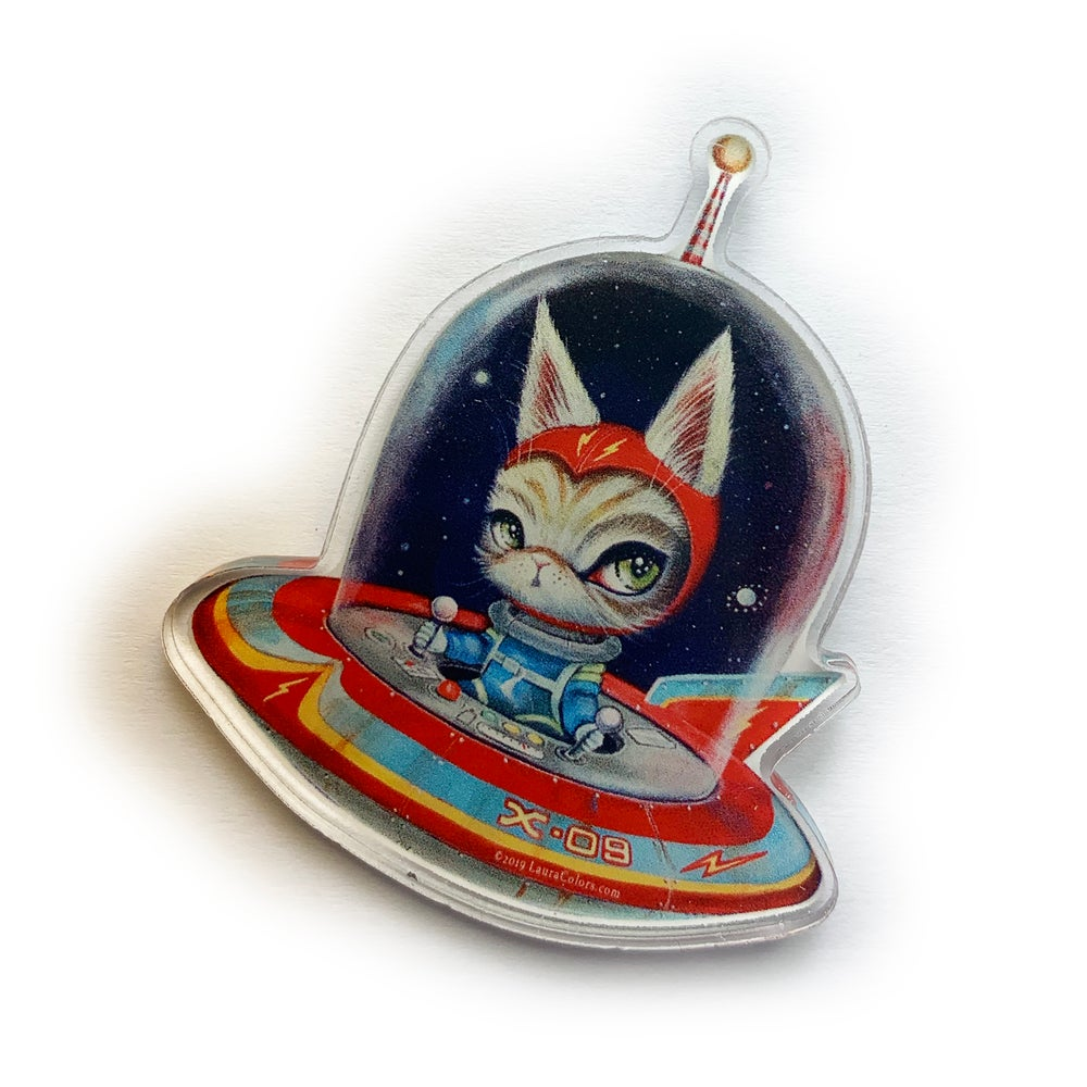 Image of Spacecat X-09 (Acrylic Pin)