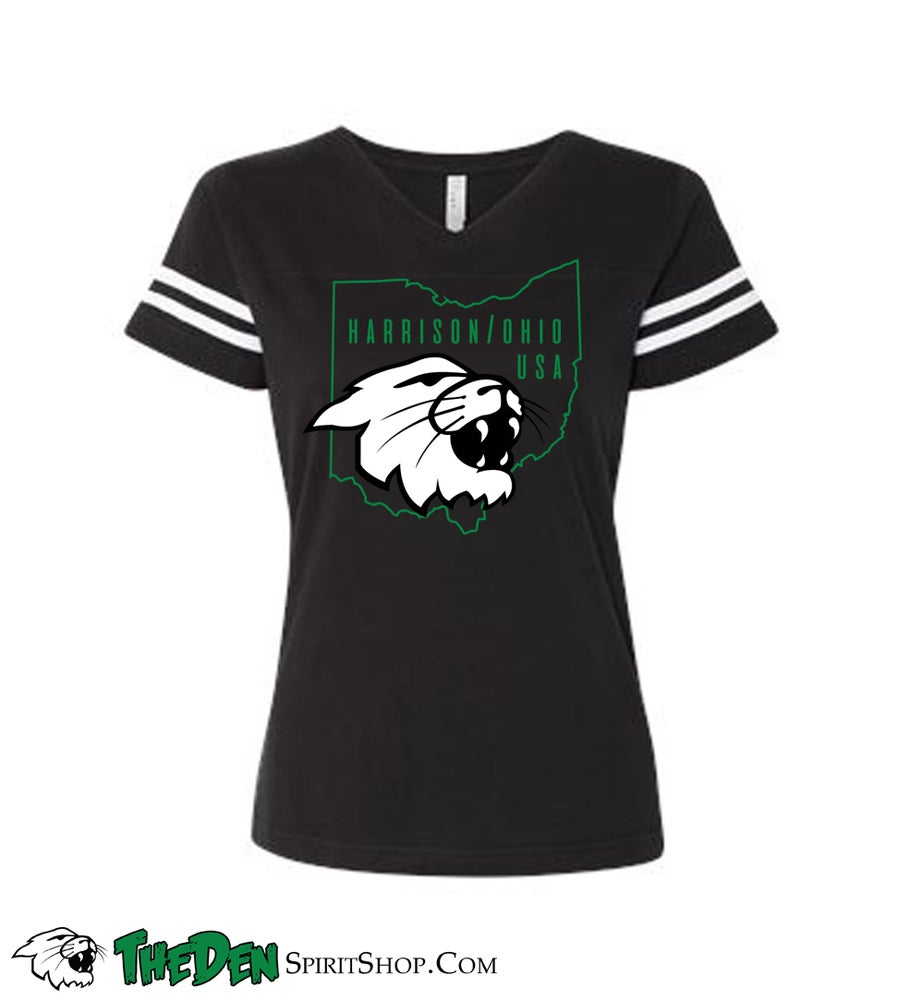 Image of Women's Varsity Tee, Black
