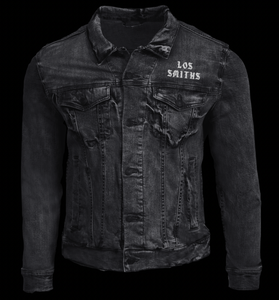 Image of LOS SMITHS BLACK DENIM JEAN JACKET (FREE-SHIPPING ON THIS ITEM ONLY)