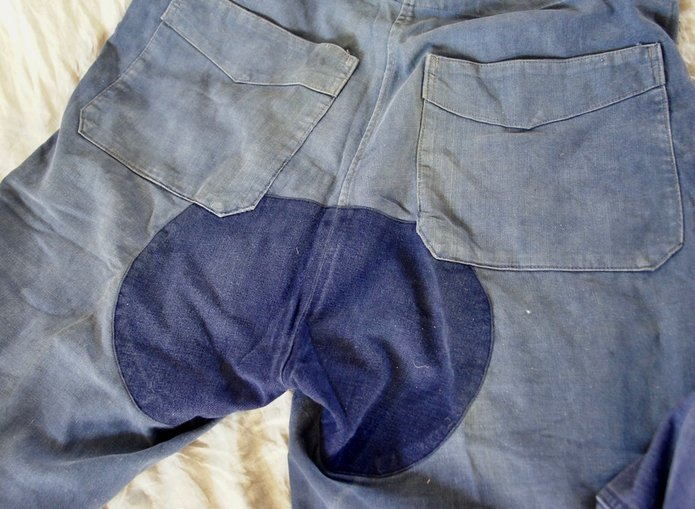 Image of French Workwear Overalls- Patch Bum