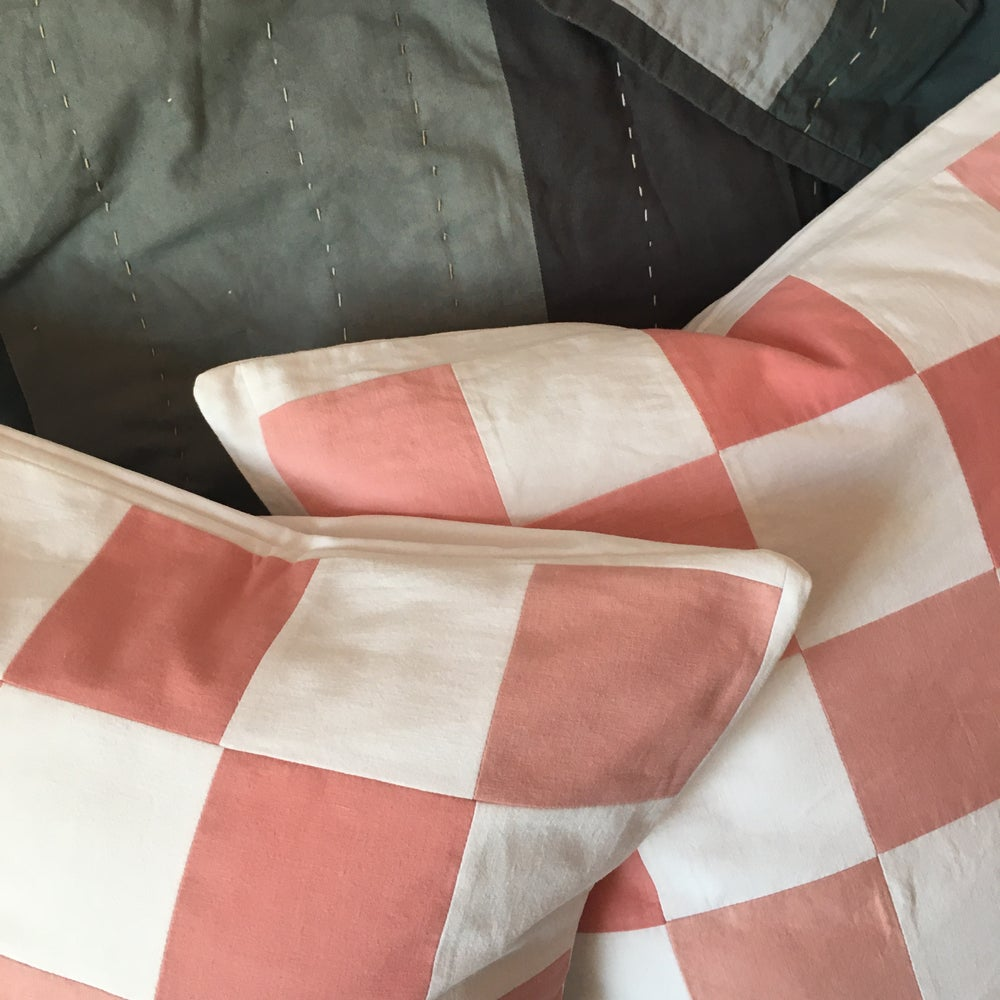 Image of Patchwork Madder cushion